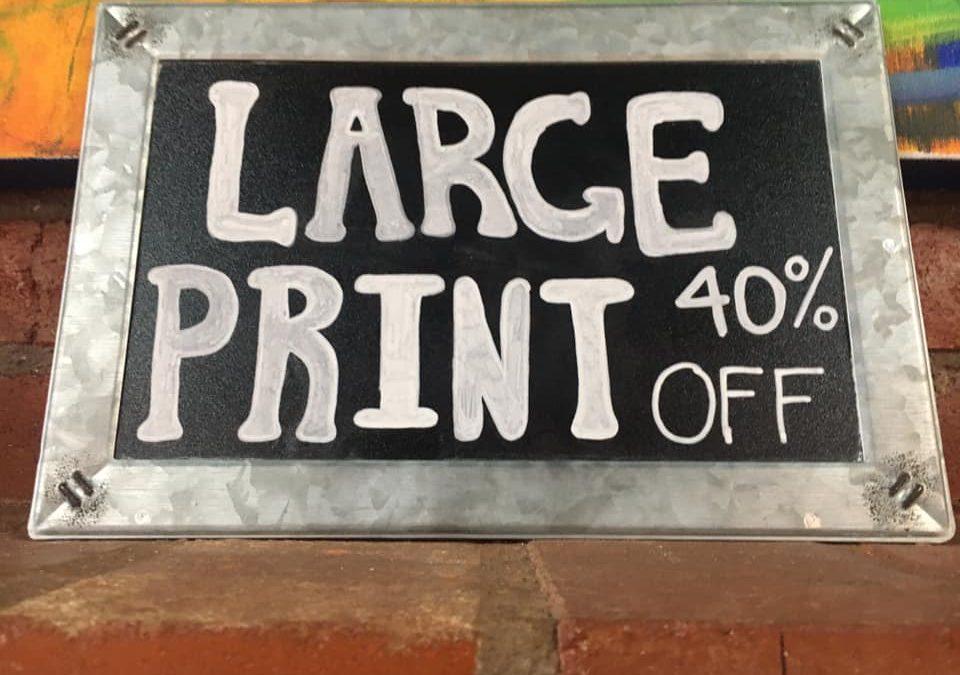 Large Print Sale